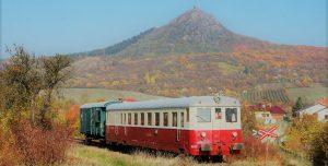 Jednoucí vlak do zastávky Třebenice -město